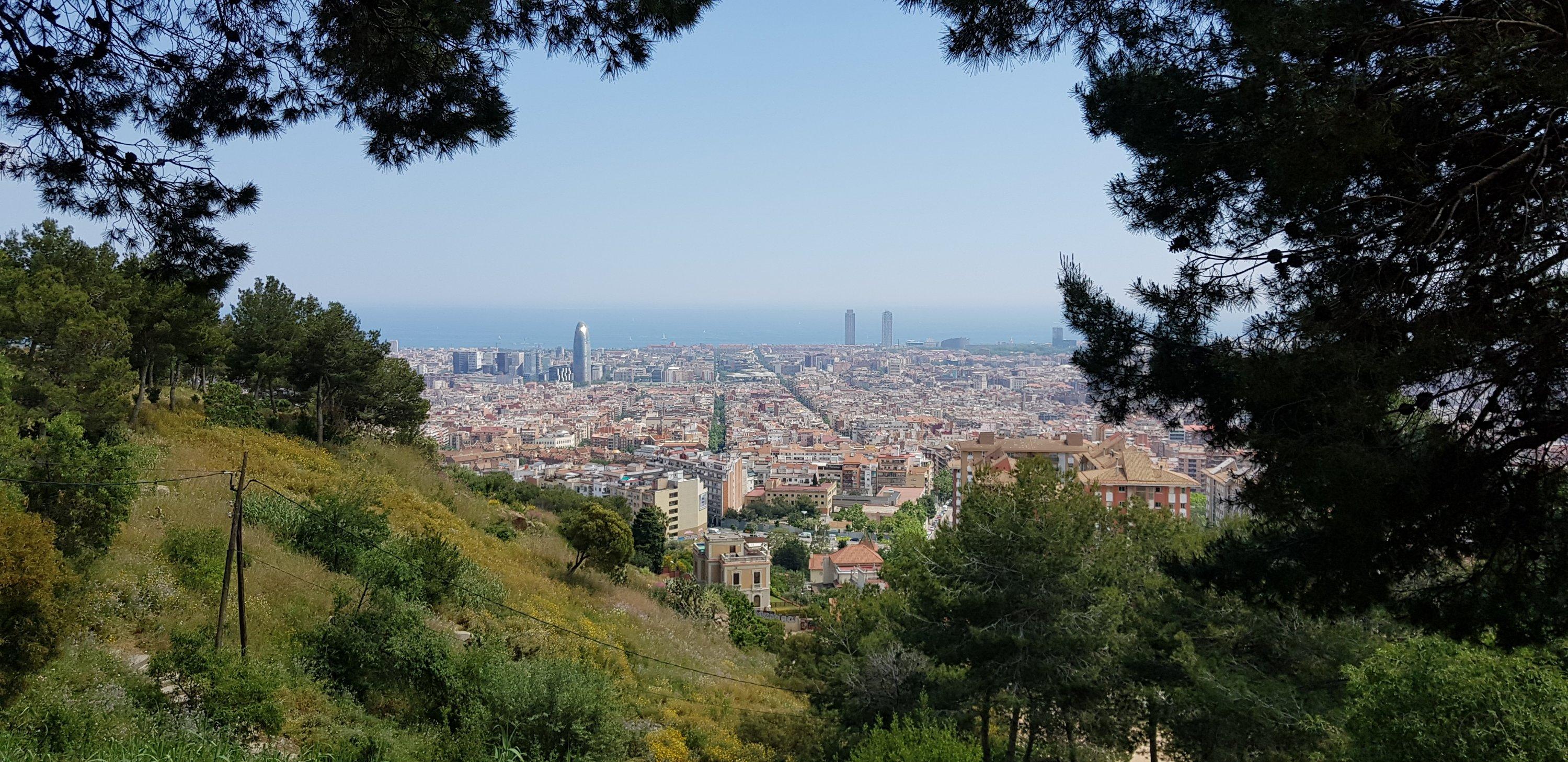 Uitzicht op Barcelona vanaf Parc del Guinardó