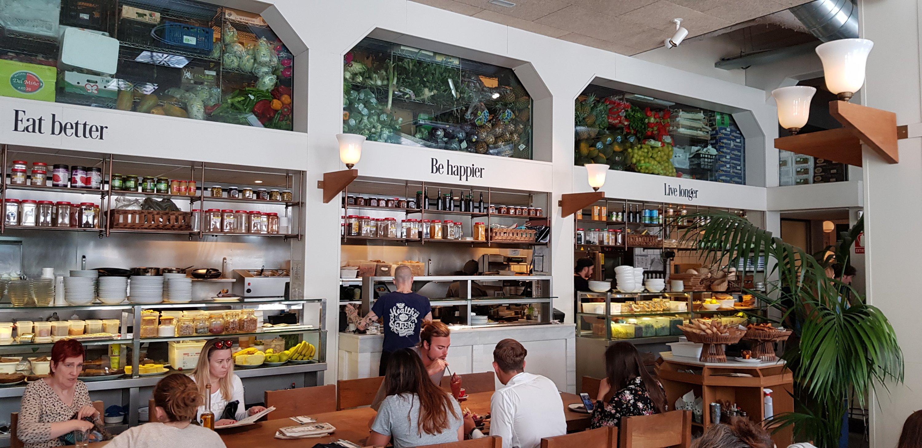 Gezond ontbijt bij Flax & Kale in Barcelona