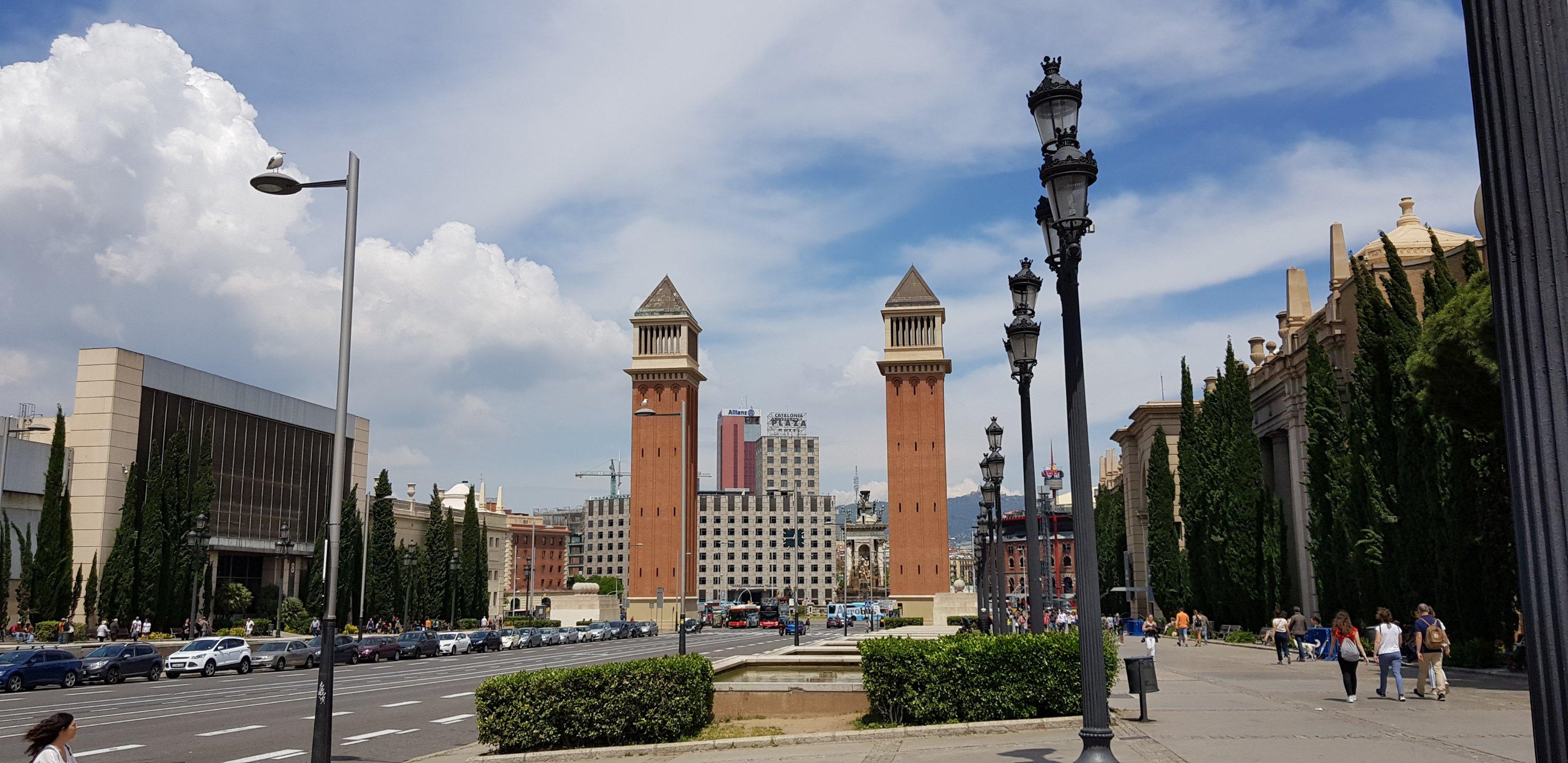 Placa d´Espanya in Barcelona