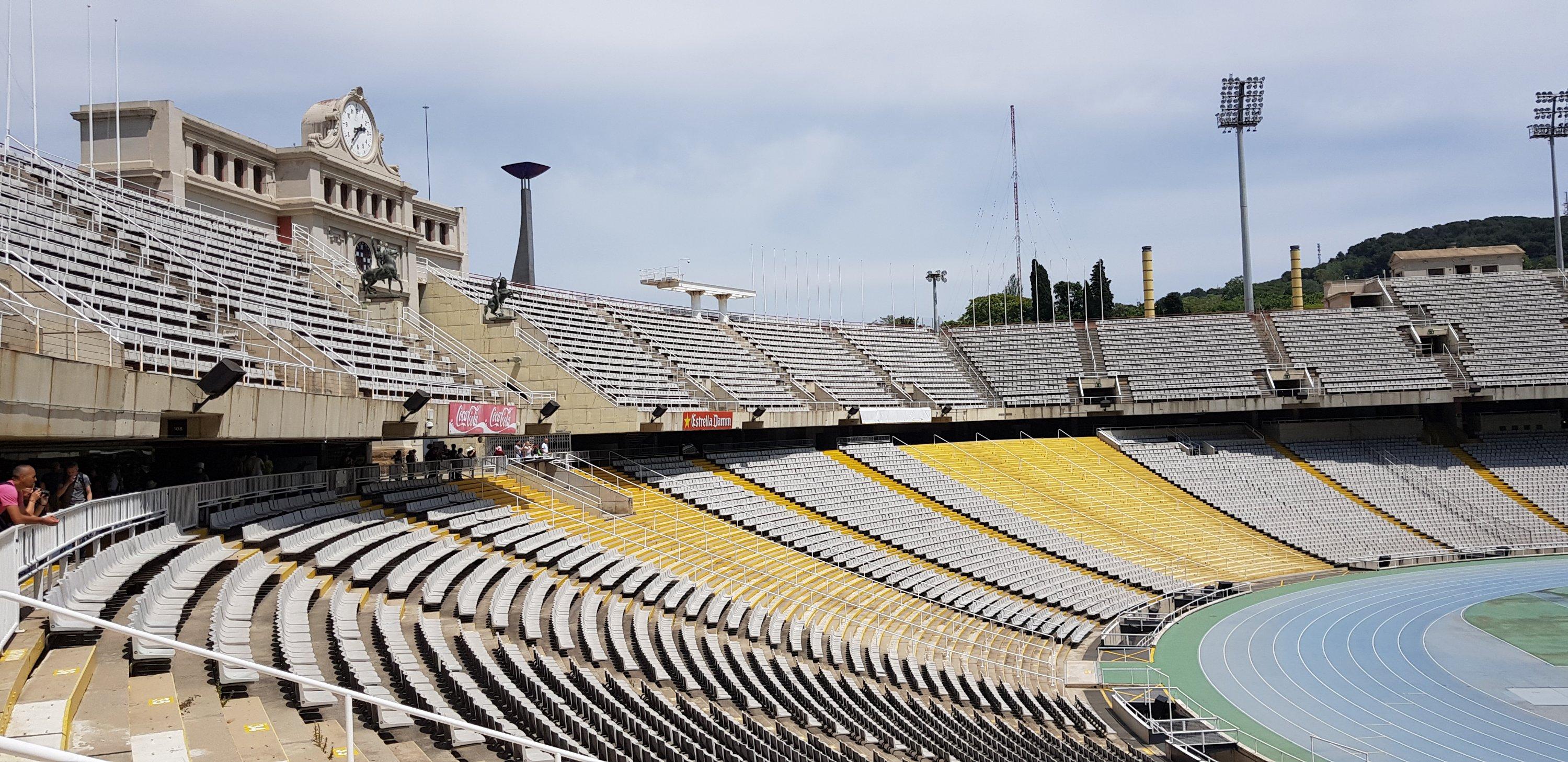 Het Olympisch stadion in Barcelona