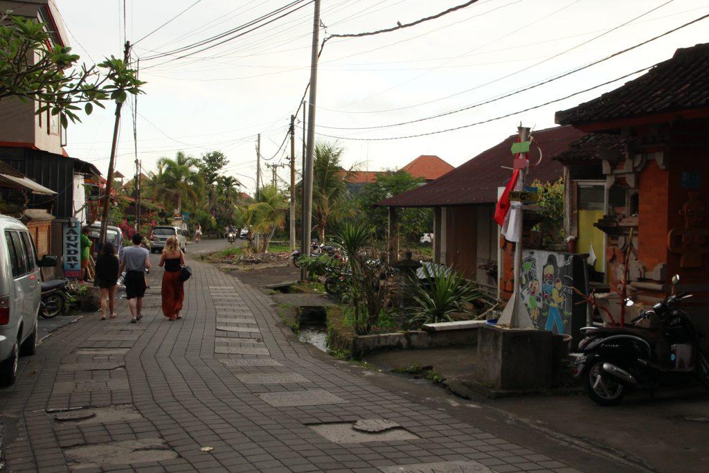 Achteraf straatje in Ubud