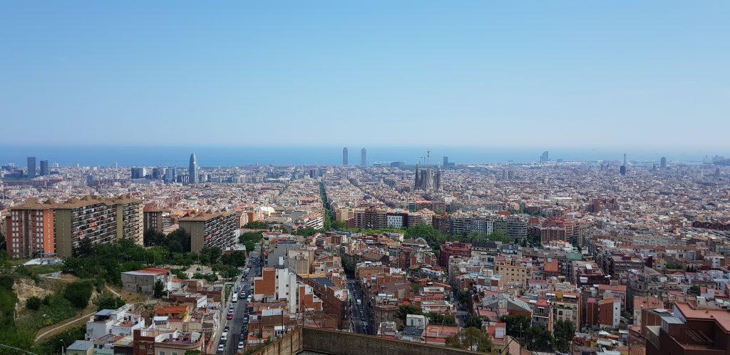 Barcelona vanaf Park Guel