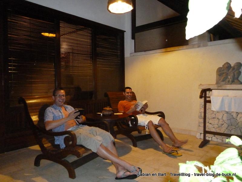 Even afkoelen op ons terras in Bali