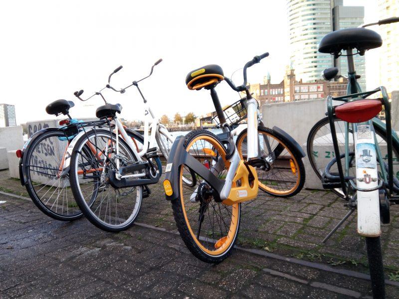 Fietsen met oBike door Rotterdam