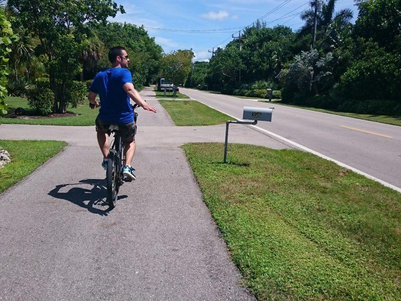Fietsen op Sanibel Island, Florida, Verenigde Staten