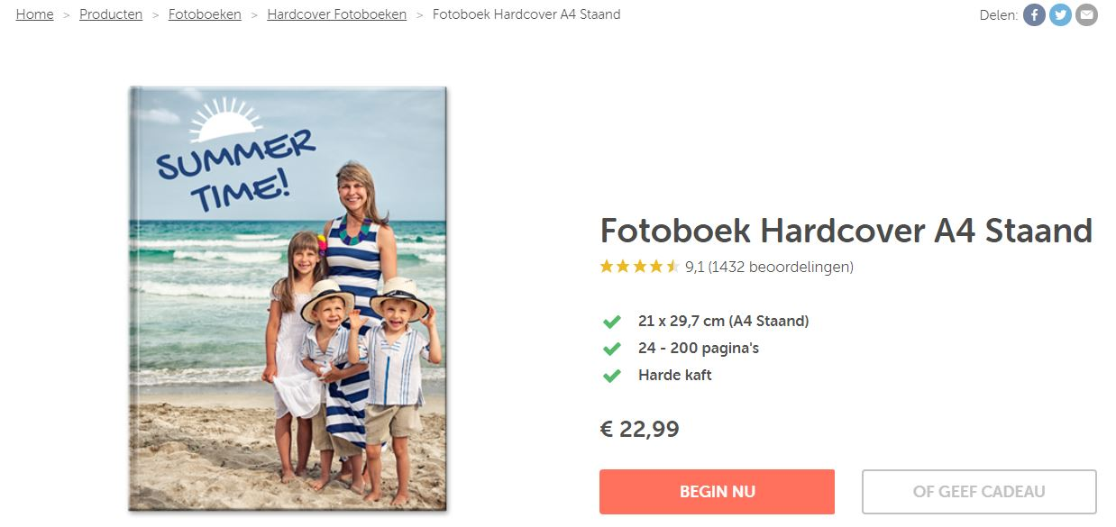 Fotofabriek A4 Hardcover Fotoboek