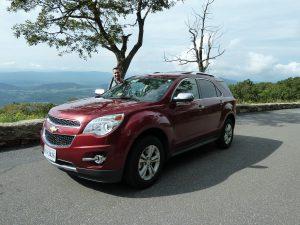 Grote auto's in de VS op de Blue Ridge Parkway