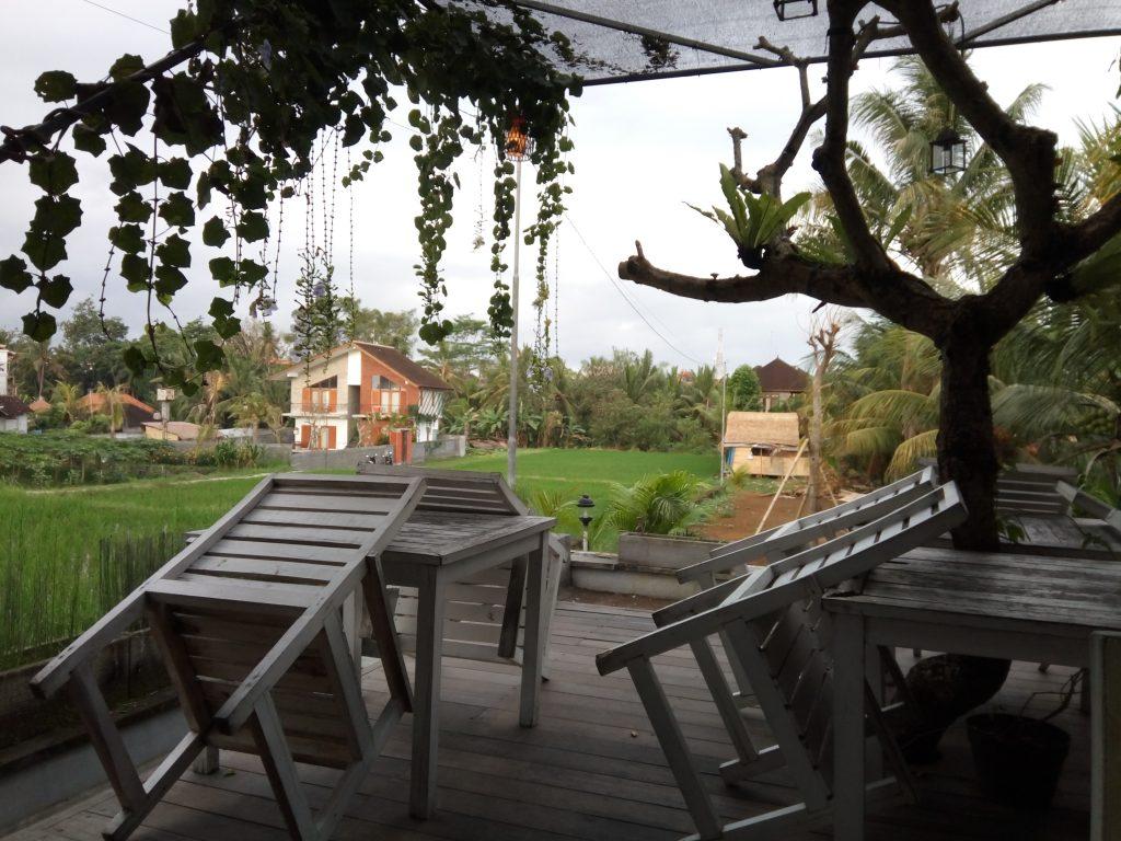 Het uitzicht bij Black Pearl in Ubud