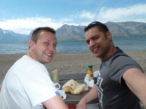 Lunch @ Jacson Lake, Wyoming