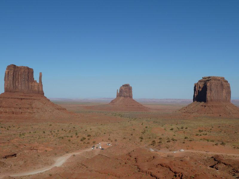 Uitzicht vanuit ons hotel The View @ Monument Valley