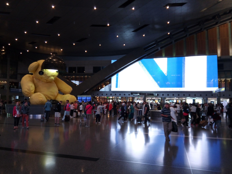De luchthaven van Qatar