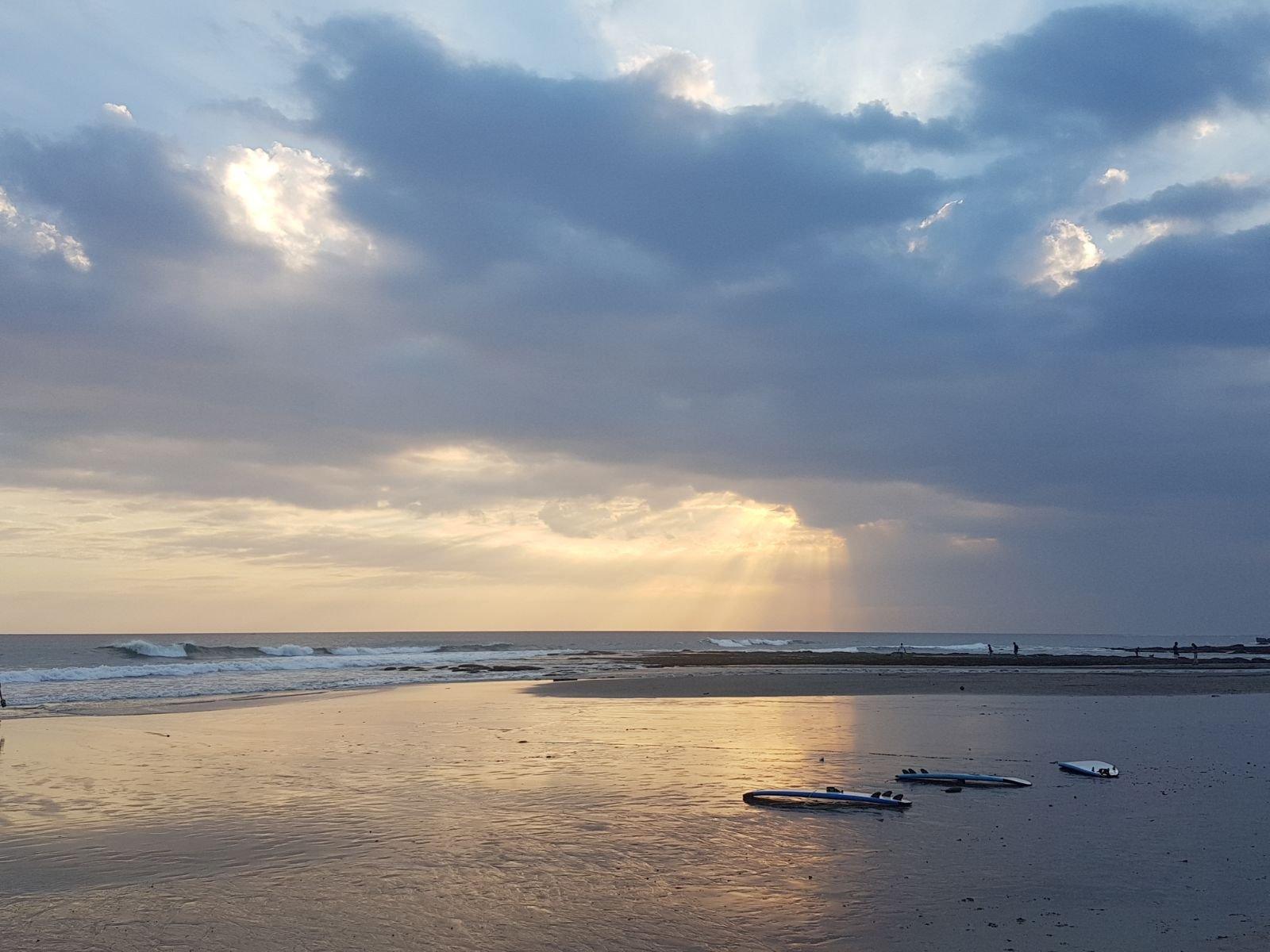 Zonsondergang in Canggu op Bali