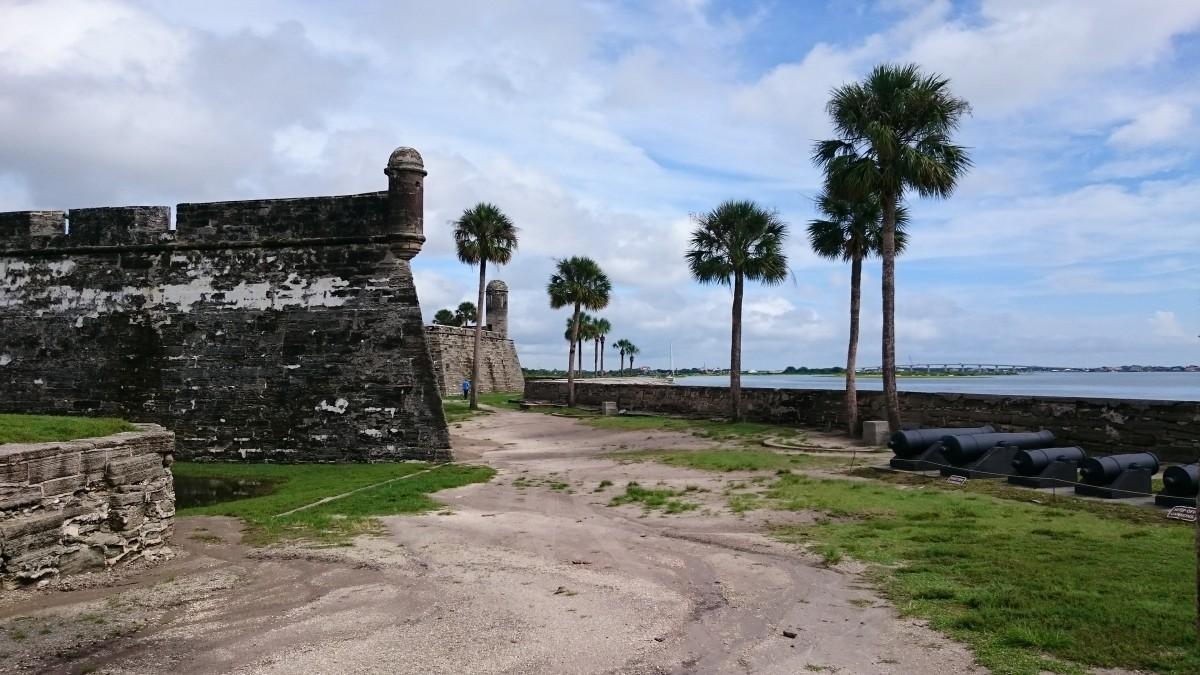 Het oude verdedigingsfort in st. augustine, Florida, VS